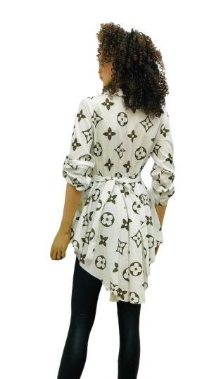 PRINT SHIRT DRESS