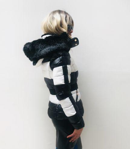 Stripe Puffer Jacket