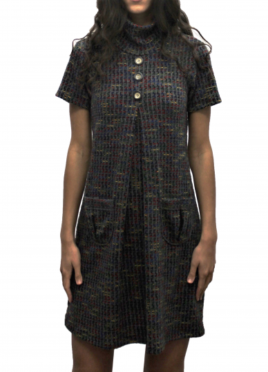 Grey with multicolor dress