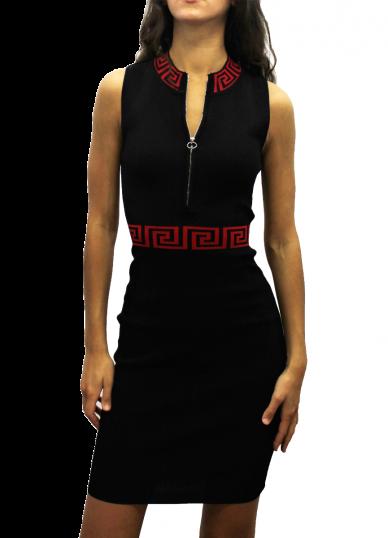 Bodycon dress with monochrome