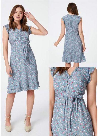 Ruffle Ditsy Print dress