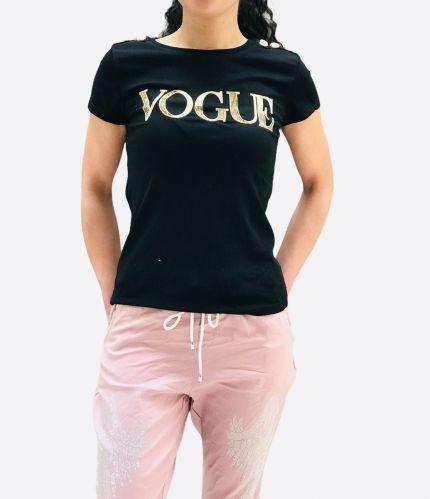 Contrasting slogan T-shirt