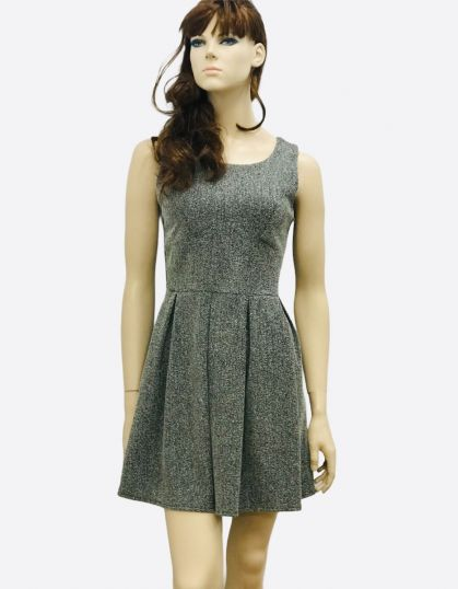 SKATER DRESS IN CHARCOAL MARL