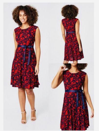 Multi print fine Jersey Dress