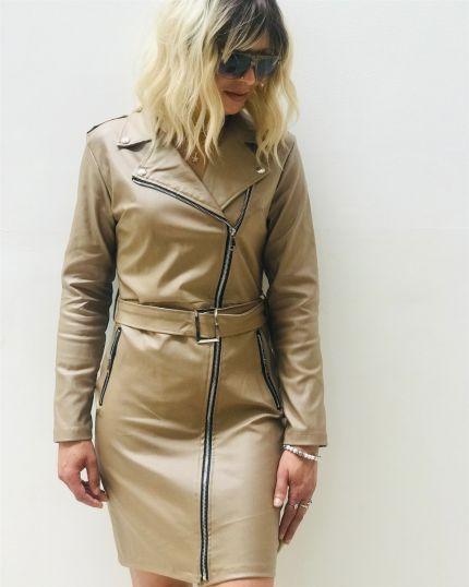 Zip Dress in Vegan Leather