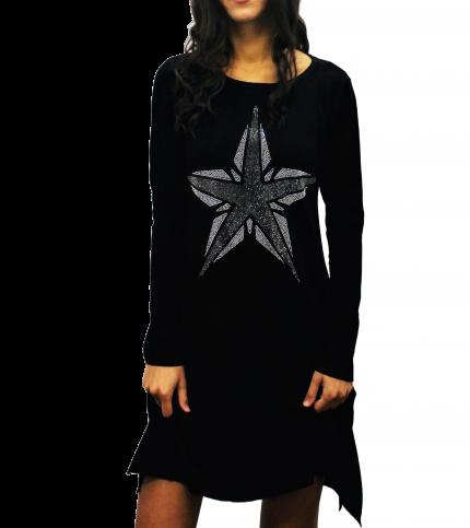 Star Print Above Knee Dress