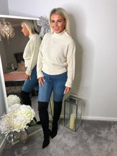 SIDE BUTTON KNIT JUMPER